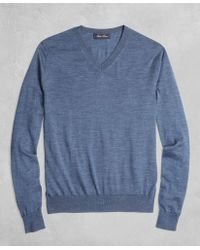 Brooks Brothers - Golden Fleece® 3-d Knit Fine-gauge Merino V-neck Sweater - Lyst