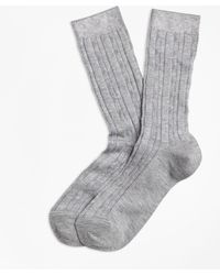Brooks Brothers - Cable-knit Socks - Lyst