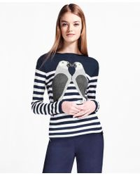 Brooks Brothers - Silk-cashmere Parrot Sweater - Lyst