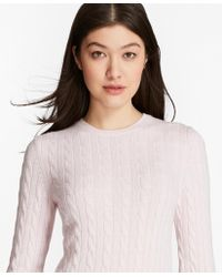 Brooks Brothers - Cashmere Cable Crewneck Jumper - Lyst