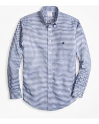 Brooks Brothers - Non-iron Regent Fit Check Sport Shirt - Lyst