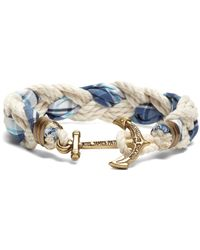 Brooks Brothers - Kiel James Patrick Seersucker Plaid Braided Bracelet - Lyst
