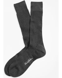 Brooks Brothers - Merino Wool Ribbed Crew Socks - Lyst
