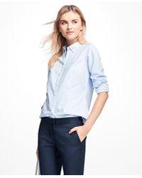 Brooks Brothers - Petite Non-iron Tailored-fit Supima® Cotton Dress Shirt - Lyst