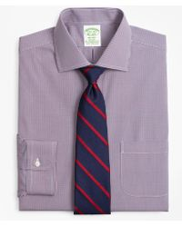 Brooks Brothers - Stretch Milano Slim-fit Dress Shirt, Non-iron Two-tone Gingham - Lyst