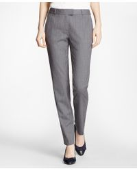 Brooks Brothers   Tapered Pinstripe Stretch Wool Trousers   Lyst