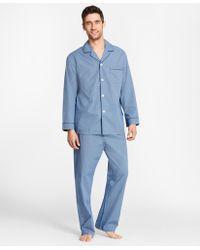 Brooks Brothers - Micro-ground Check Pyjamas - Lyst