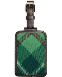 Brooks Brothers - Green Plaid Luggage Tag - Lyst