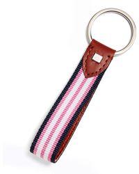 Brooks Brothers - Stripe Key Fob - Lyst