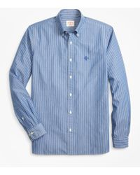 Brooks Brothers - Striped Broadcloth Sport Shirt - Lyst