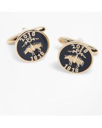 Brooks Brothers | 200th Anniversary Gold-plated Sterling Silver Cuff Links | Lyst