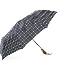 Brooks Brothers - Tattersall Folding Umbrella - Lyst