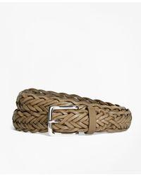 Brooks Brothers - Leather Braided Belt - Lyst