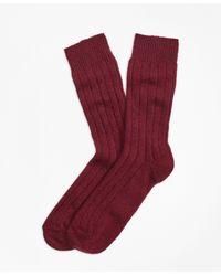 Brooks Brothers   Ribbed Cashmere Dress Socks   Lyst