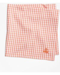 Brooks Brothers - Supima® Cotton Gingham Pocket Square - Lyst
