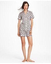 Brooks Brothers - Daisy-print Supima® Cotton Poplin Pajamas - Lyst