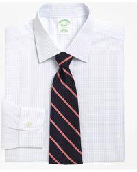 Brooks Brothers - Non-iron Milano Fit Medium Check Dress Shirt - Lyst