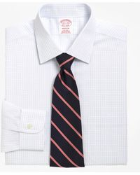 Brooks Brothers - Non-iron Madison Fit Medium Check Dress Shirt - Lyst