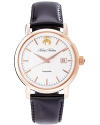 Brooks Brothers - Round Watch With Calfskin Band - Lyst