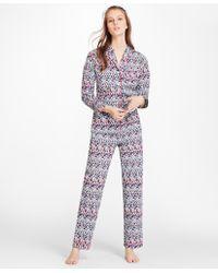 "Brooks Brothers - ""b""-print Cotton Poplin Pyjama Set - Lyst"