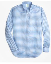 Brooks Brothers - Milano Fit Oxford Check Sport Shirt - Lyst