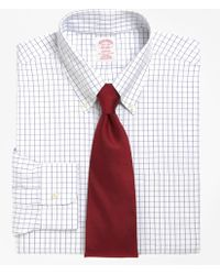 Brooks Brothers - Non-iron Milano Fit Windowpane Dress Shirt - Lyst