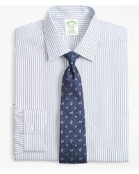 Brooks Brothers - Milano Slim-fit Dress Shirt, Non-iron Alternating Double-stripe - Lyst