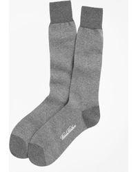 Brooks Brothers | Cotton Bird's Eye Crew Socks | Lyst