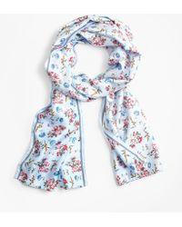Brooks Brothers - Floral-print Silk-blend Scarf - Lyst