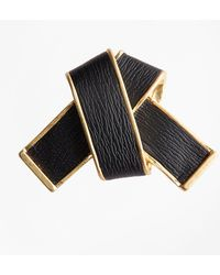 Brooks Brothers - Leather Knot Brooch - Lyst
