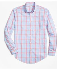 Brooks Brothers - Non-iron Regent Fit Windowpane Sport Shirt - Lyst