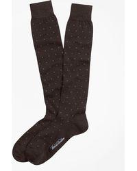 Brooks Brothers - Merino Wool Big Dot Over-the-calf Dress Socks - Lyst