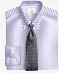 Brooks Brothers - Original Polo® Button-down Oxford Milano Slim-fit Dress Shirt, Ground Stripe - Lyst