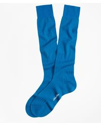 Brooks Brothers - Ribbed Over-the-calf Socks - Lyst