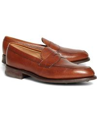 Brooks Brothers - Peal & Co.® Cognac Pebble Loafers - Lyst