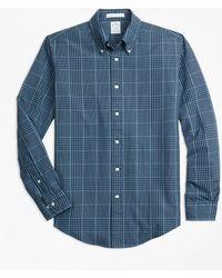 Brooks Brothers - Regent Fit Indigo Glen Plaid Sport Shirt - Lyst