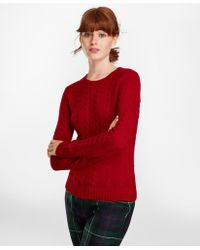 Brooks Brothers - Cable-knit Cashmere Jumper - Lyst
