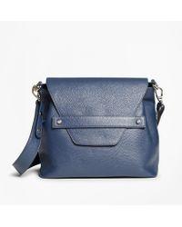 Brooks Brothers - Pebbled Leather Envelope-flap Shoulder Bag - Lyst