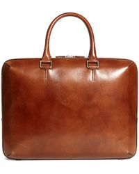 Brooks Brothers - Burnished Leather Briefcase - Lyst