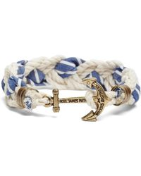 Brooks Brothers - Kiel James Patrick Seersucker Stripe Braided Bracelet - Lyst