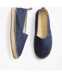 a79bfcdc438 Lyst - Brooks Brothers Braid Espadrilles in Blue for Men