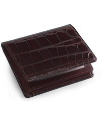 Brooks Brothers - Alligator Trifold Wallet - Lyst
