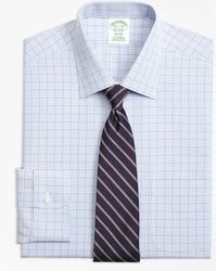 Brooks Brothers - Milano Slim-fit Dress Shirt, Non-iron Overcheck - Lyst