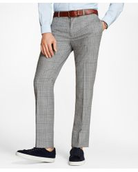Brooks Brothers - Windowpane Wool Suit Trousers - Lyst