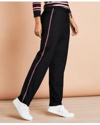 Brooks Brothers - Stripe-trimmed Wool-blend Track Trousers - Lyst
