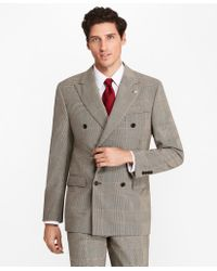 Brooks Brothers - Regent Fit Double-breasted Plaid 1818 Suit - Lyst