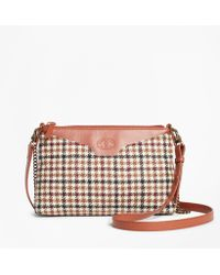 Brooks Brothers - Checked Wool Double-strap Convertible Cross-body Bag - Lyst
