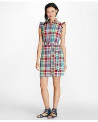 Brooks Brothers - Madras Cotton Seersucker Shirt Dress - Lyst
