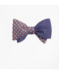 Brooks Brothers - Solid-non-solid With Snowboarding Pequins Reversible Bow Tie - Lyst