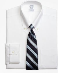 Brooks Brothers - Non-iron Regent Fit Button-down Collar Stretch Dress Shirt - Lyst